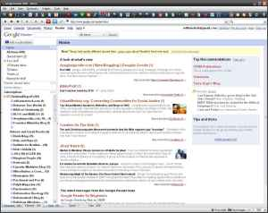 Click to see a sample Google Reader page